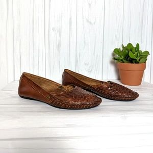 Frye Leather Woven Huraches Size 8 Made in Mexico